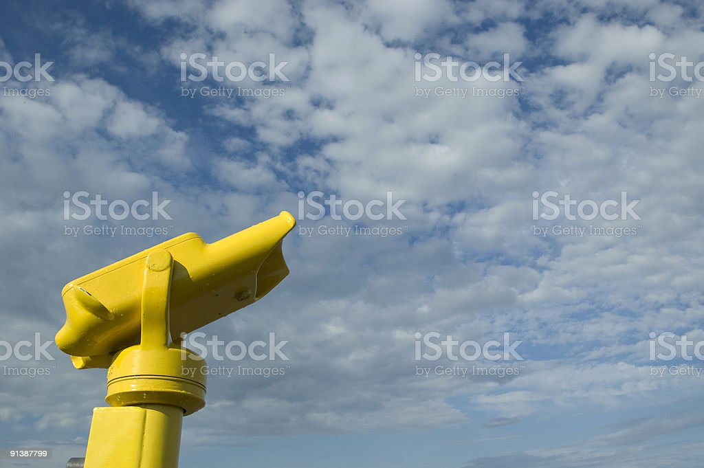 Coin-operated yellow view finder royalty-free stock photo