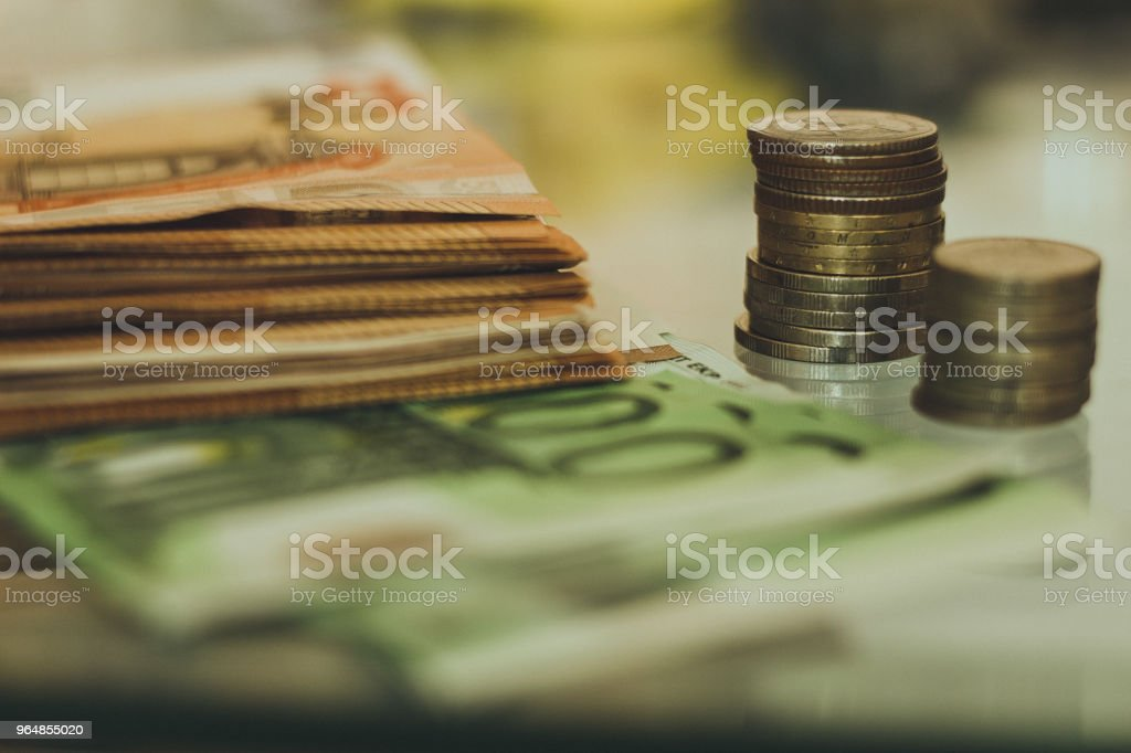 coins and paper money. royalty-free stock photo