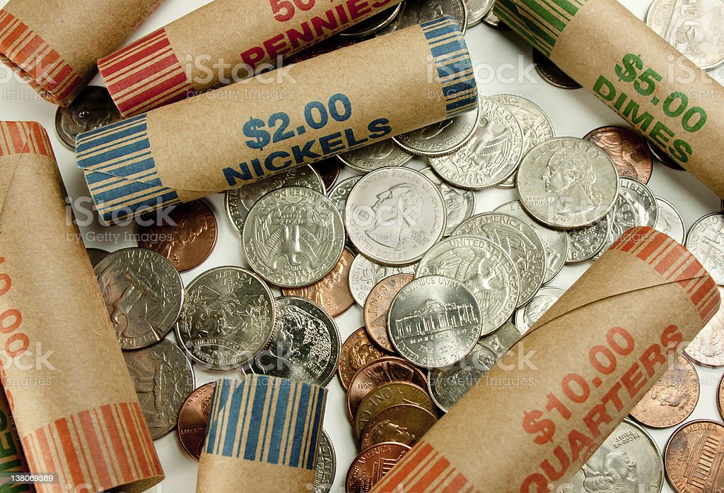 Coins And Wrappers stock photo