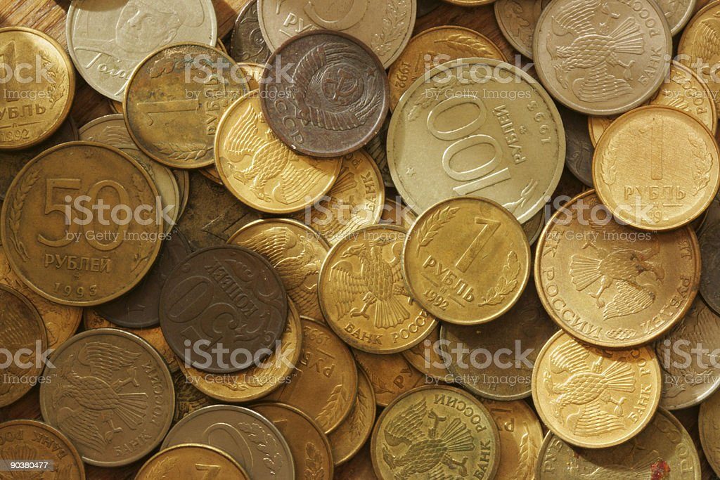 Coins background royalty-free stock photo