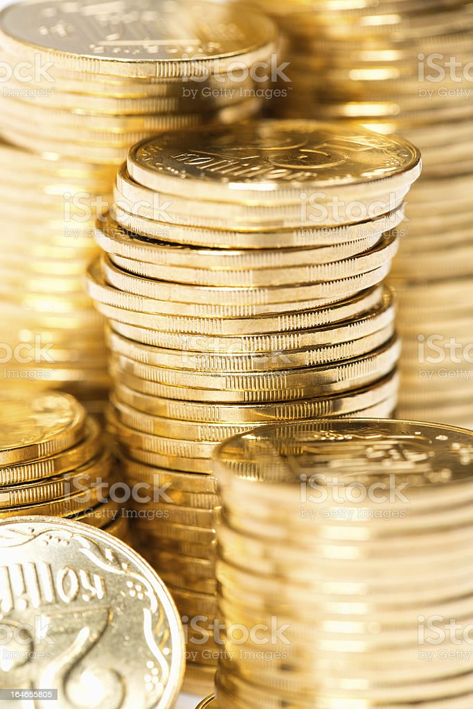 Coins close up background royalty-free stock photo