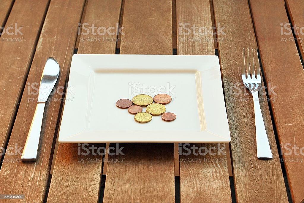 Coins Composition stock photo