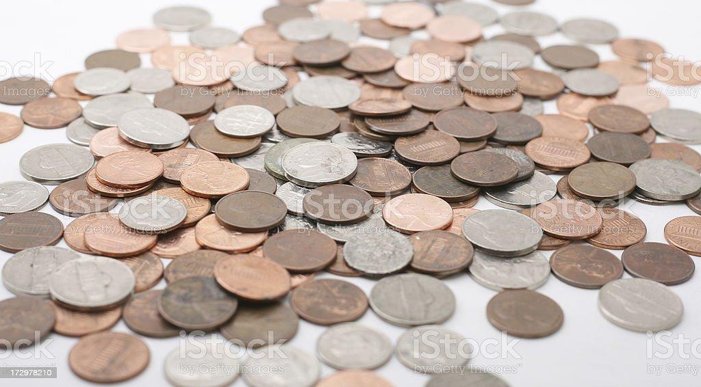 Usamünzen Währung Und Geld Sparen ändern 5 Cent Es Werden Stockfoto