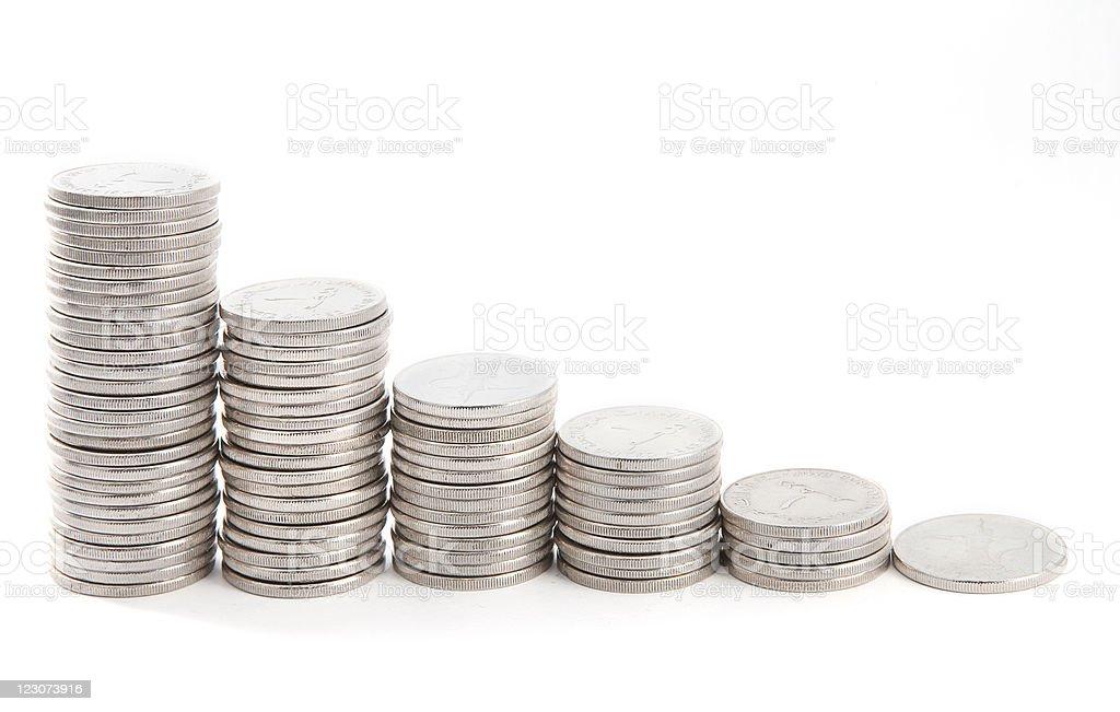 Coins diagram royalty-free stock photo