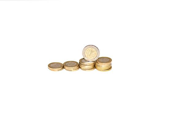 Coins: euros stock photo