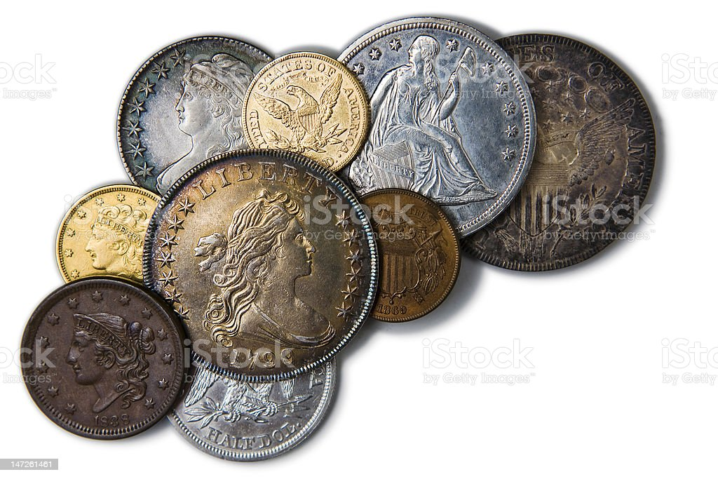 Coins from Savings – Horizontal stock photo