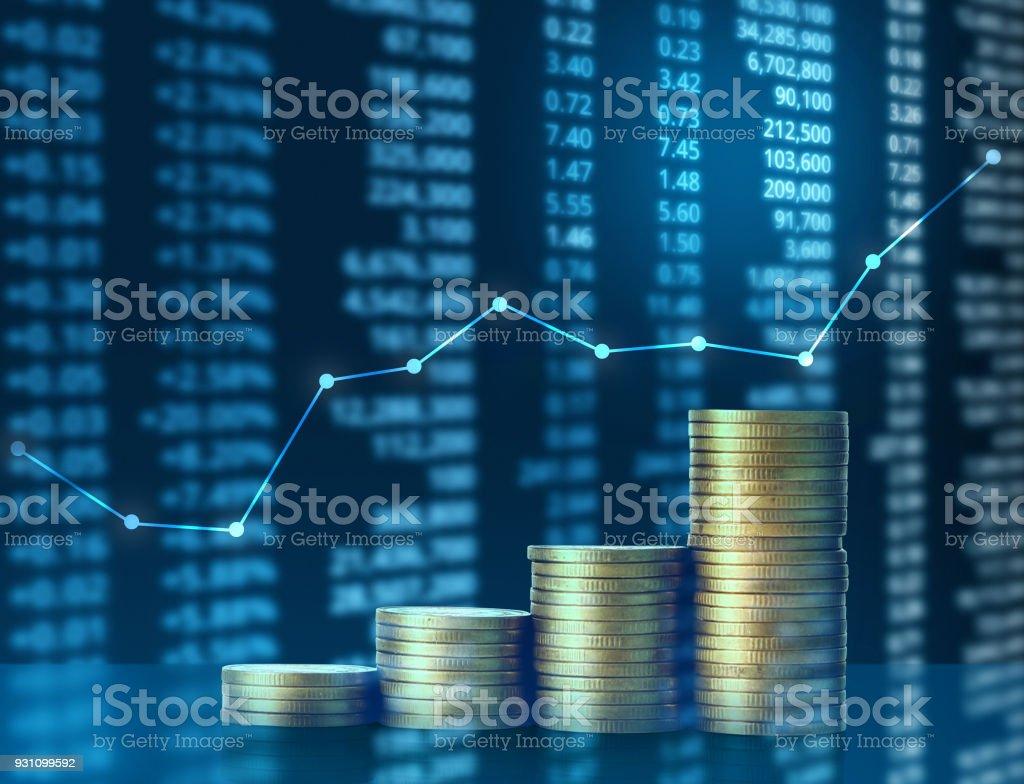 Paralar piyasa hisse senedi grafiği - Royalty-free Altın - Metal Stok görsel