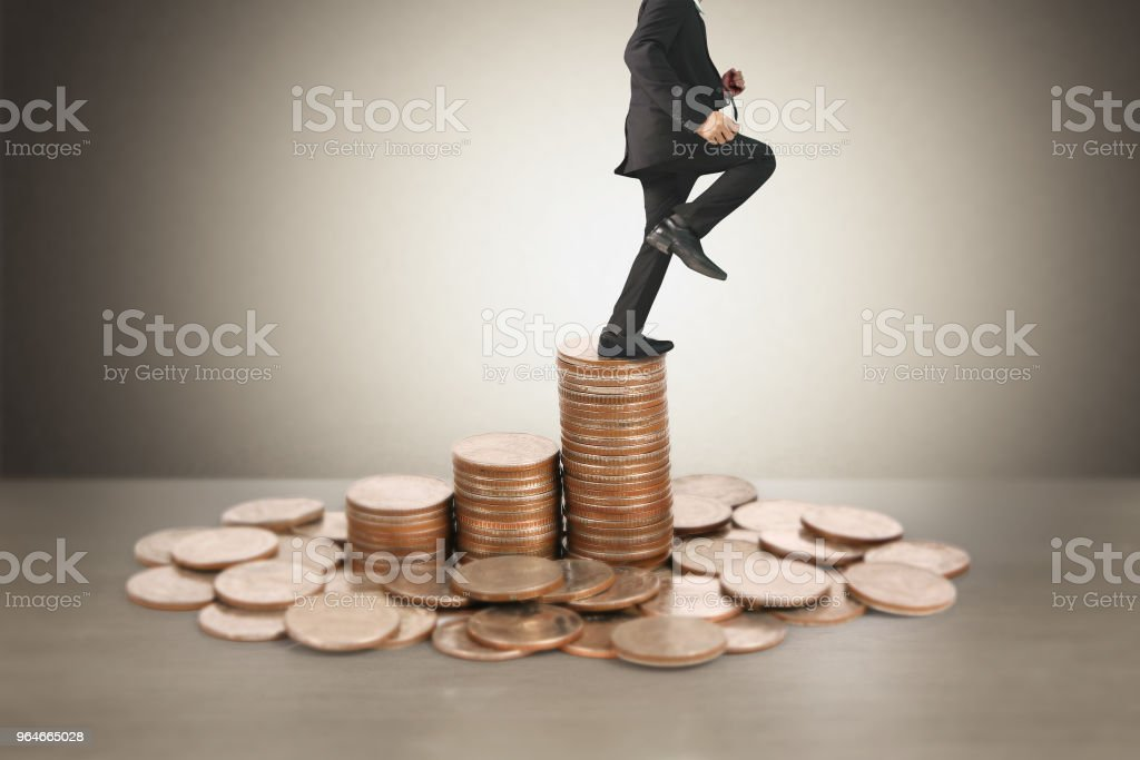 Coins graph stock market royalty-free stock photo