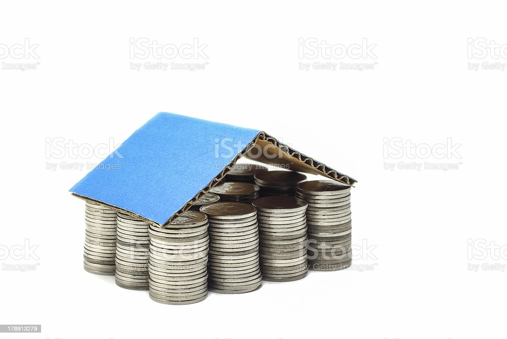 coins house mortgage concept royalty-free stock photo