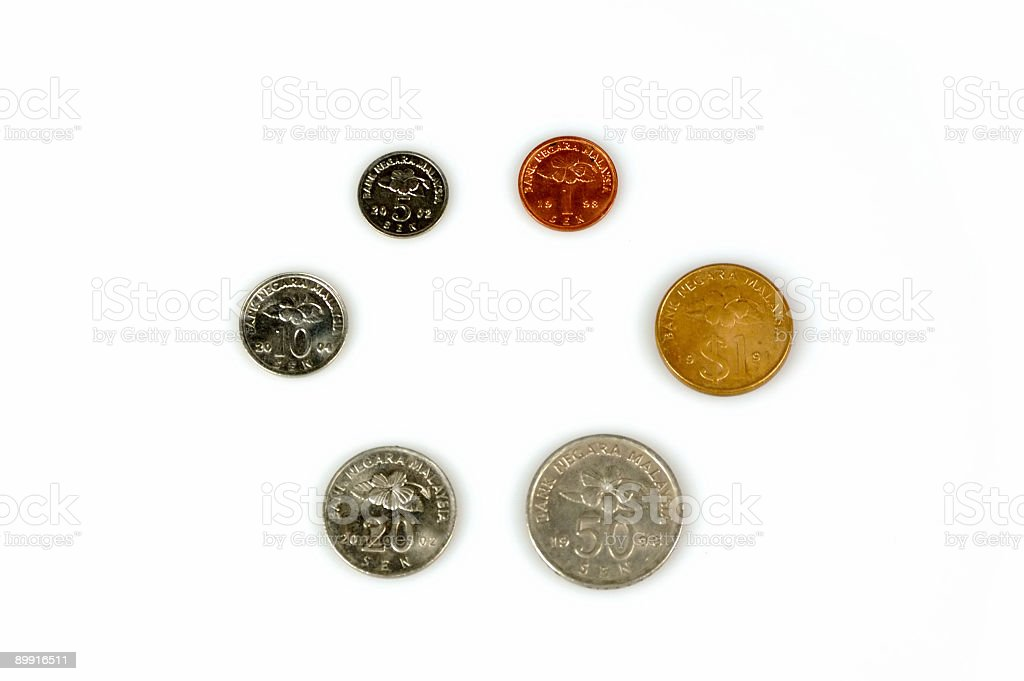 Coins : Malaysia royalty-free stock photo