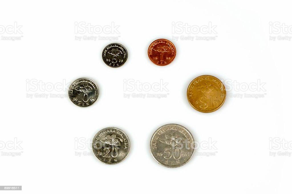 Coins : Malaysia royalty free stockfoto