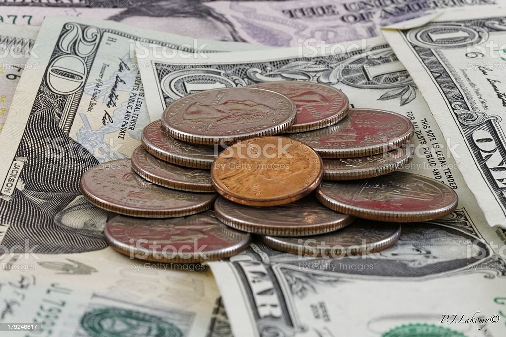 Coins, Money, Cash royalty-free stock photo