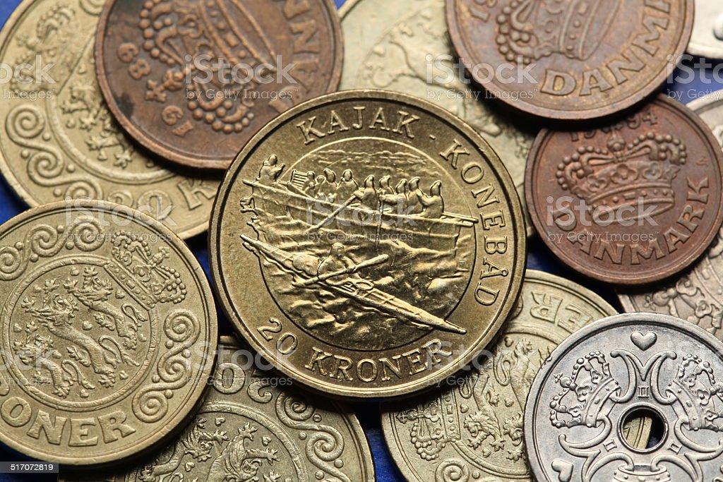 Coins of Denmark stock photo
