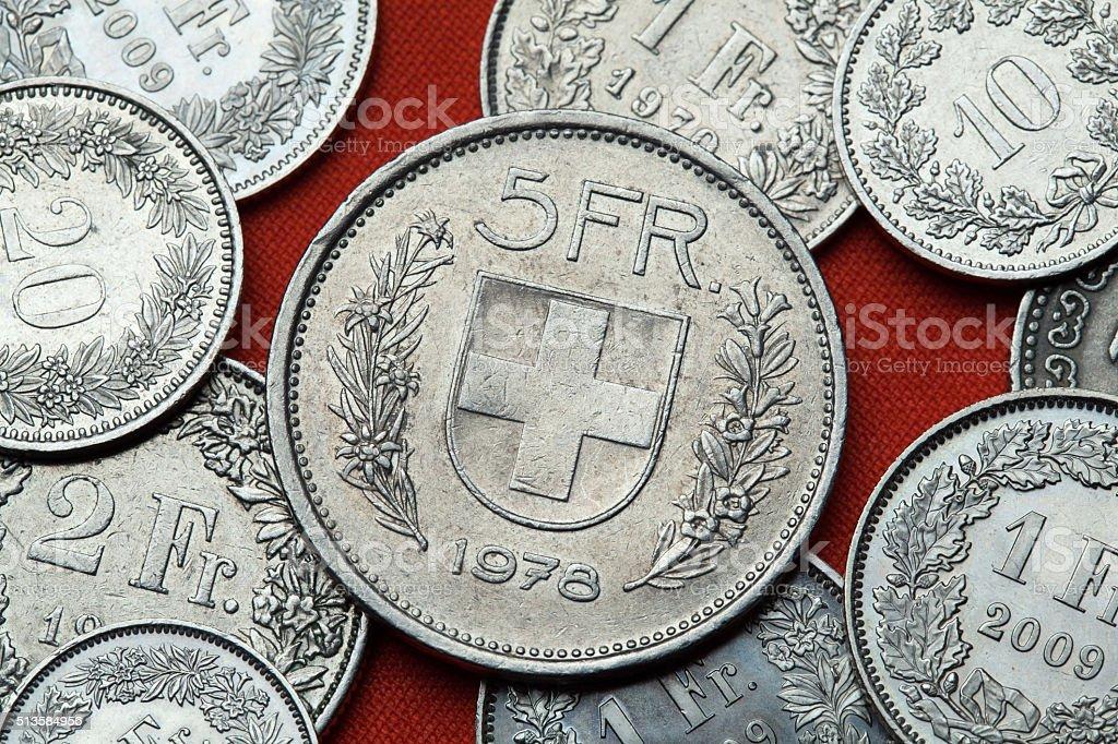 Münzen Der Schweiz Schweizeremblem Stockfoto Istock