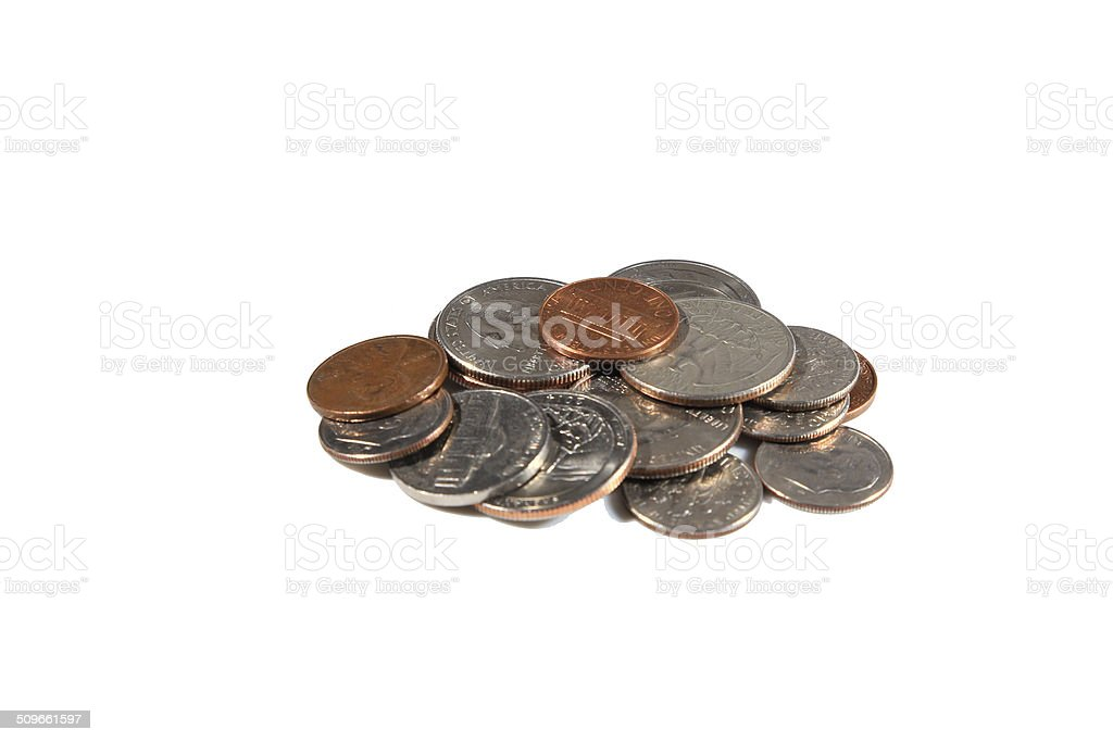 Coins of US stock photo