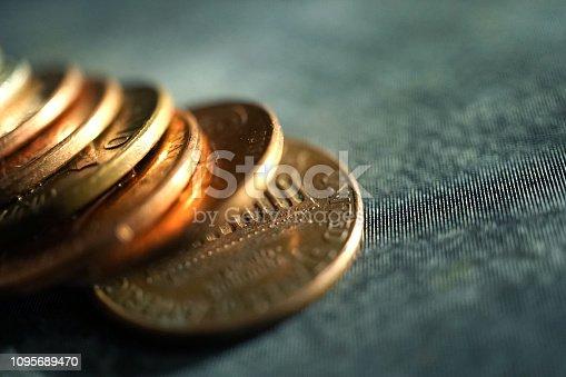 shot of pennies