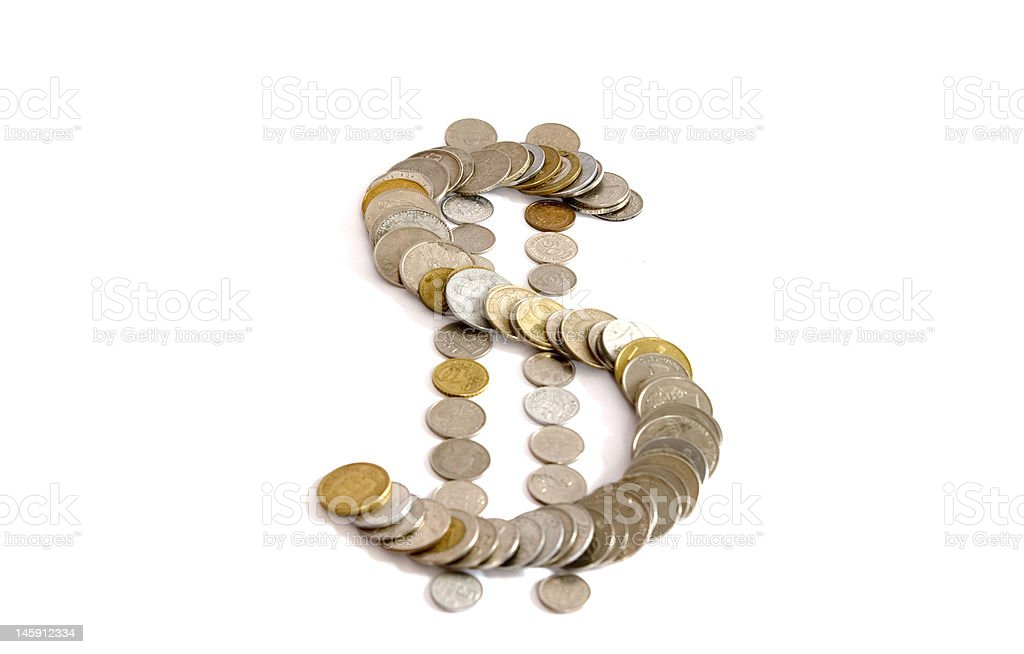 coins Sign of dollar from coins Affectionate Stock Photo