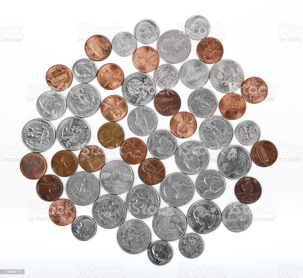 USA Coins royalty-free stock photo