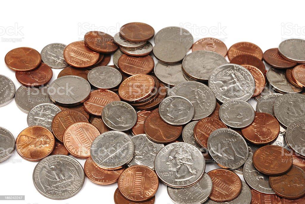 USA coins stock photo