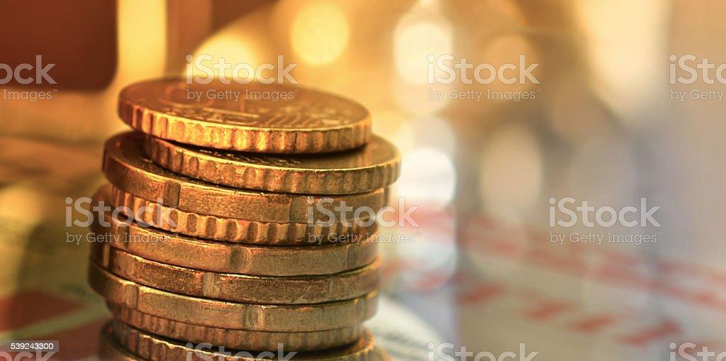 Monedas  foto de stock libre de derechos