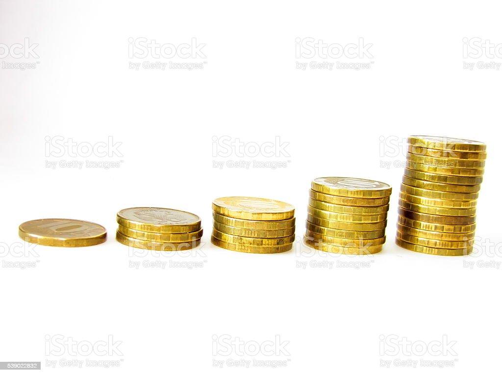 Монеты наборный в барах. стоковое фото