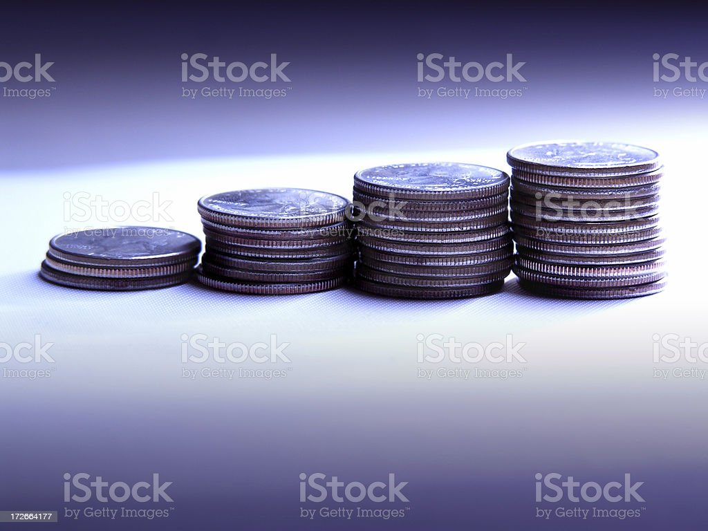 Coins Stacked royalty-free stock photo