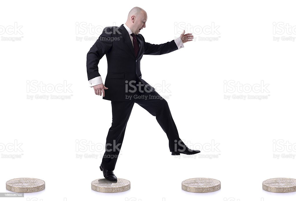 coins steps royalty-free stock photo