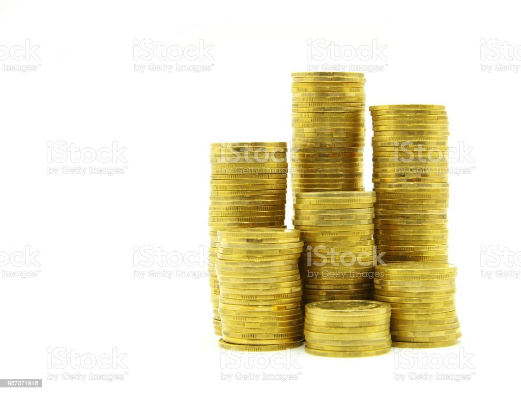 coins stock stock photo