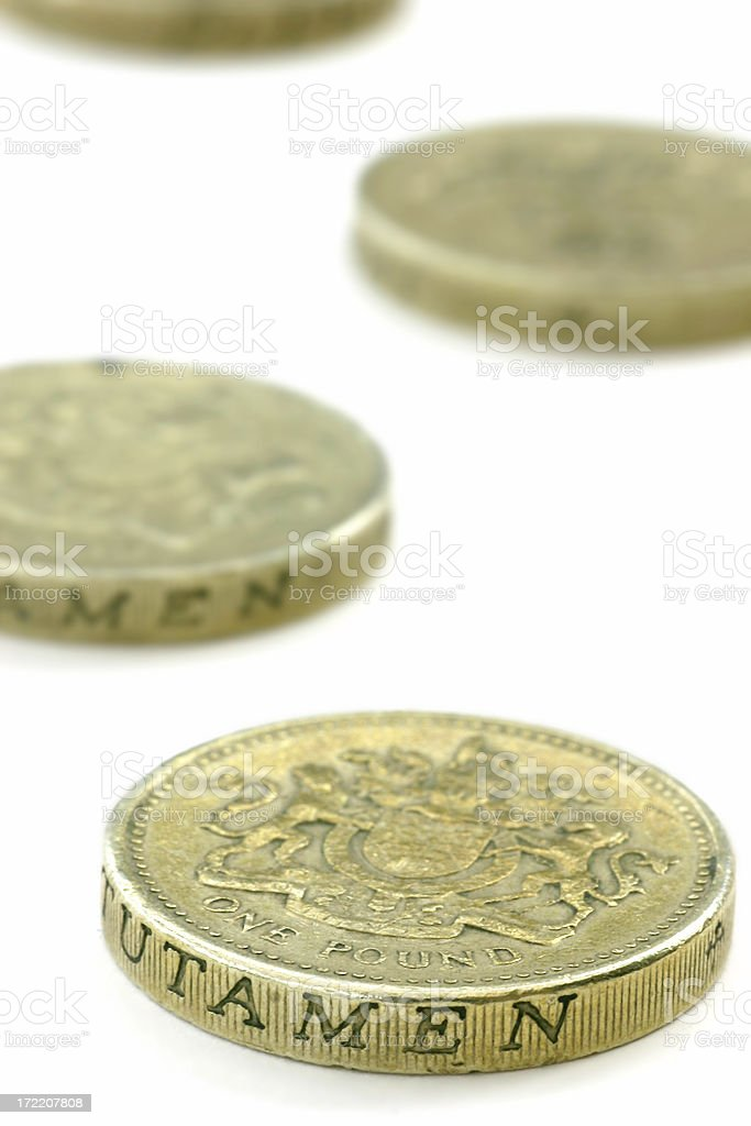 Coins UK Pounds royalty-free stock photo