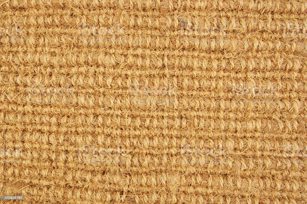 Coir mat stock photo
