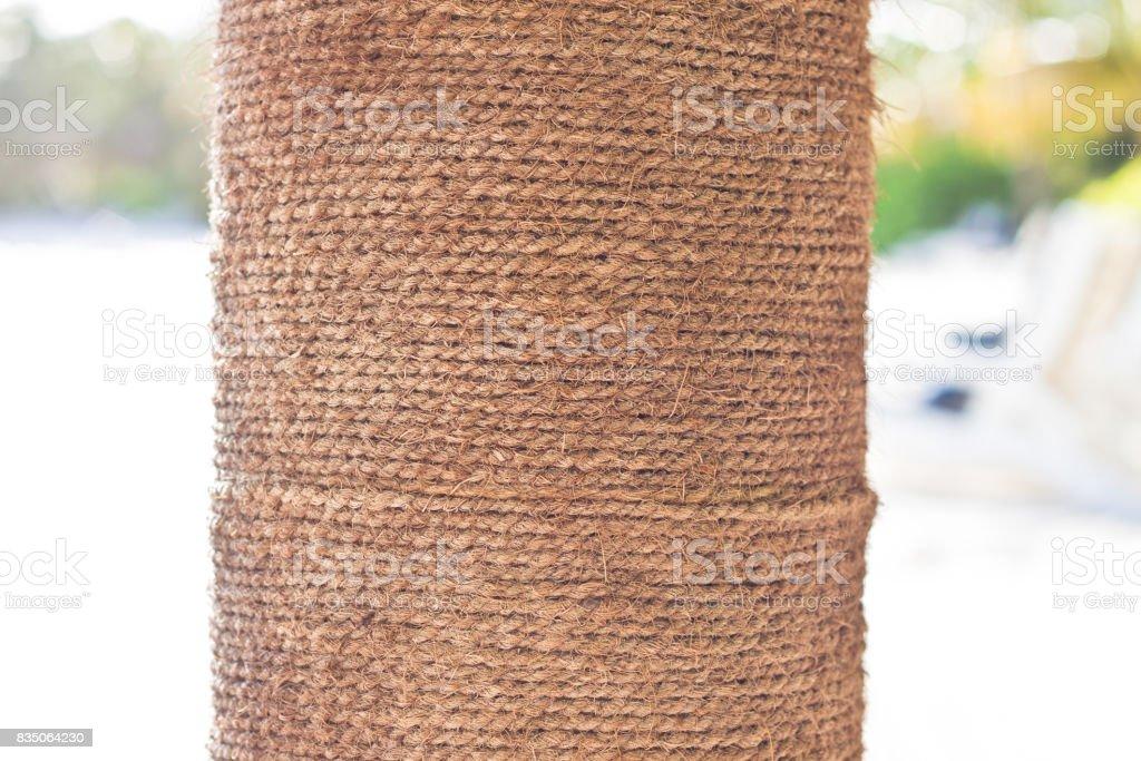 Coir Pillar stock photo