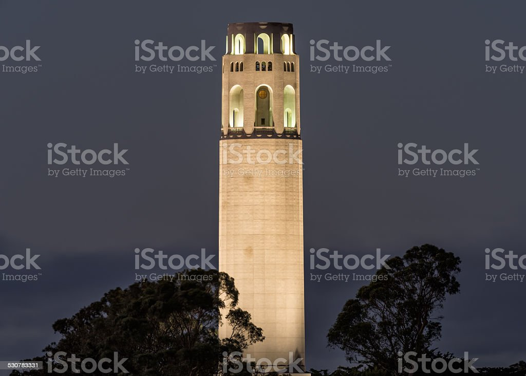 Coit Tower at Dusk stock photo