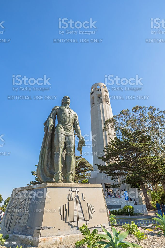 Coit Tower Monument stock photo