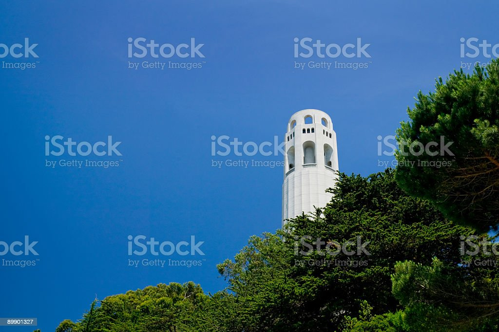 Coit Tower on Telegraph Hill royalty-free stock photo