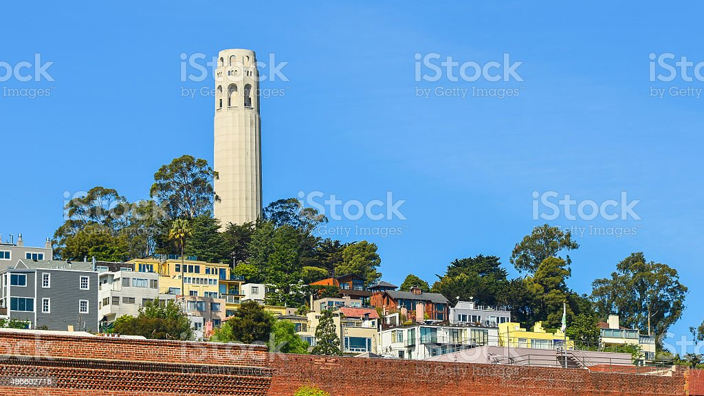 Coit Tower - San Francisco, California stock photo
