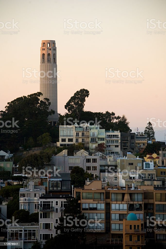 Coit Tower San Francisco stock photo