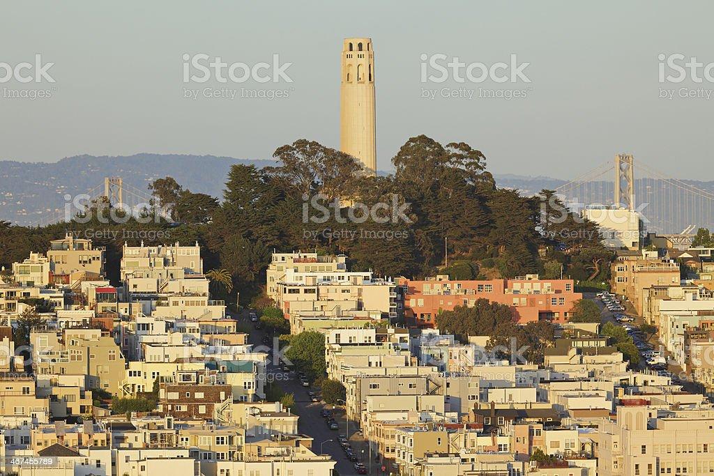 Coit Tower - San Francisco royalty-free stock photo