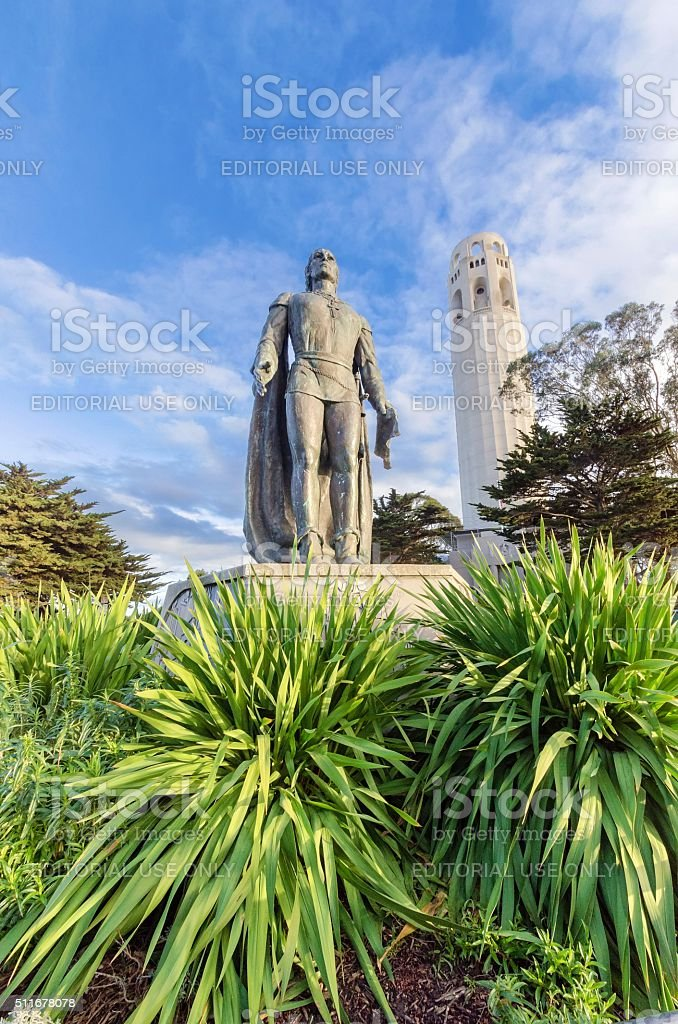 Coit Tower, San Francisco stock photo