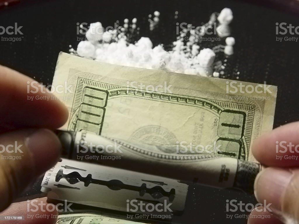 coke ritual cocaine royalty-free stock photo