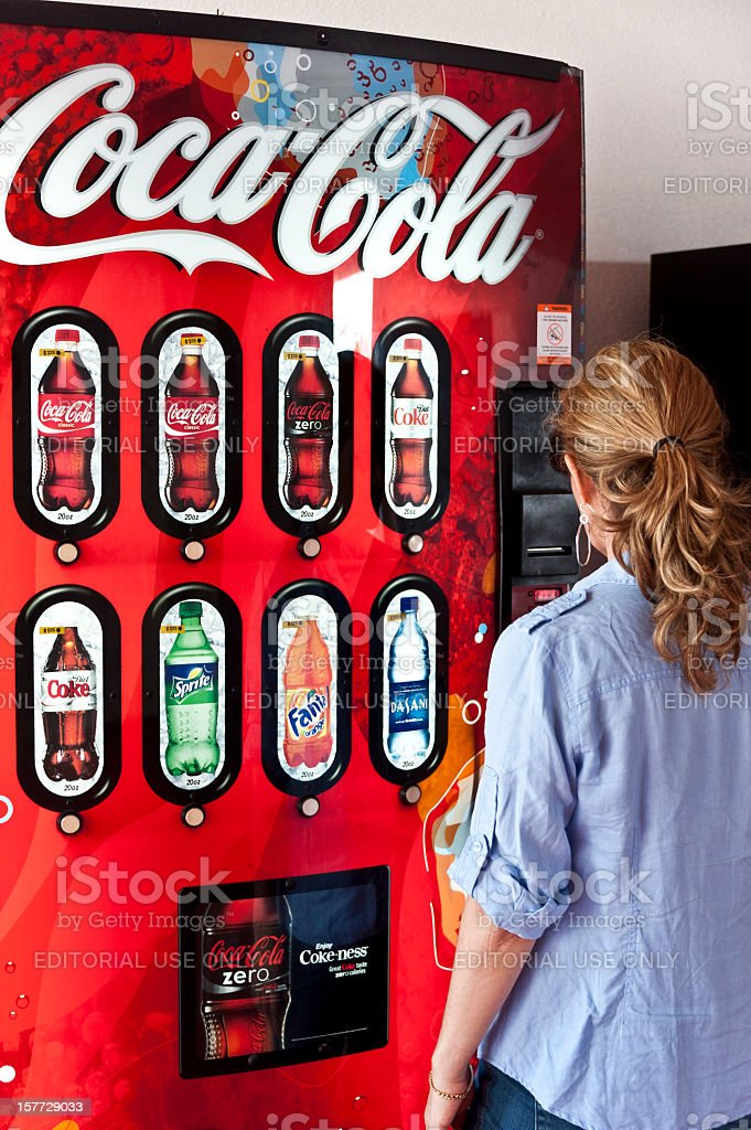 Coke Vending Machine royalty-free stock photo