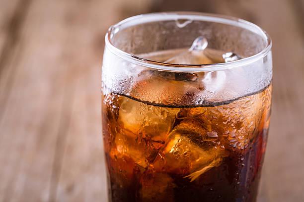 coke with ice stock photo