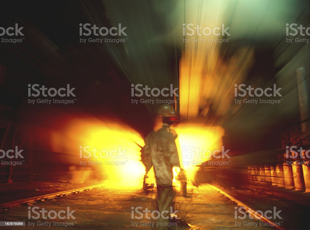 coking plant at night stock photo