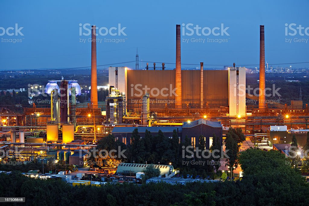 Coking Plant In The Evening stock photo