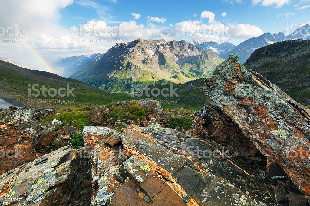 Col du Galibier, France stock photo