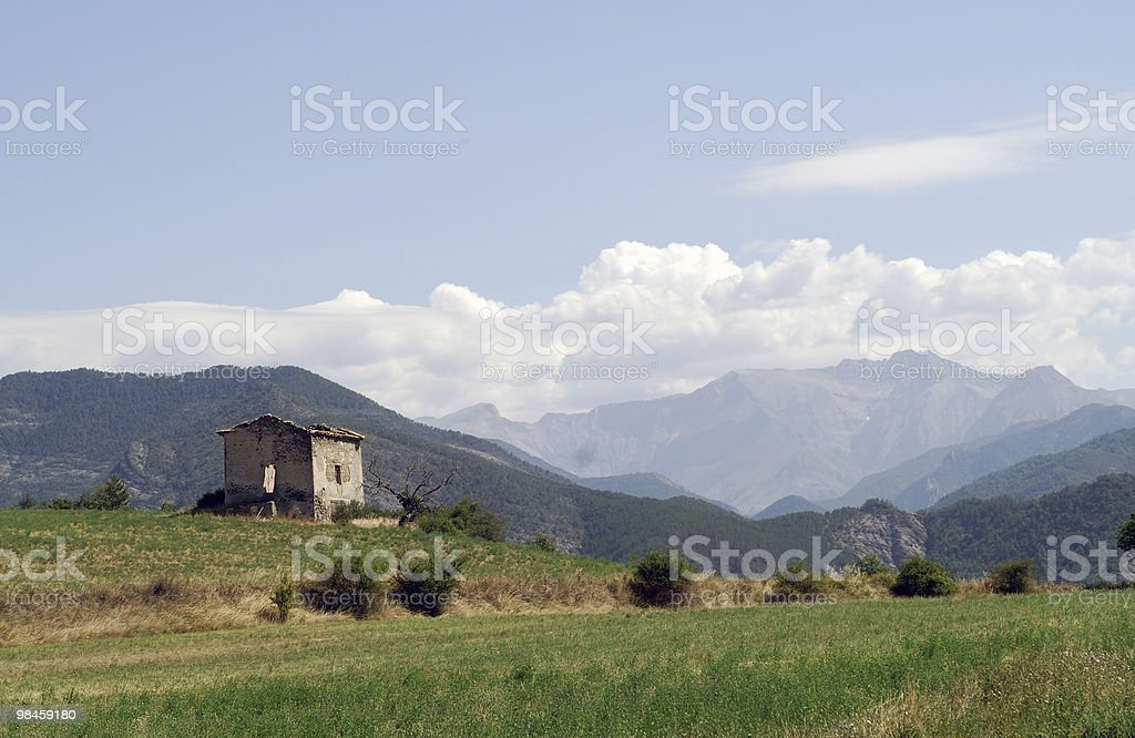 Col du Labouret, French Alps - Landscape at summer royalty-free stock photo