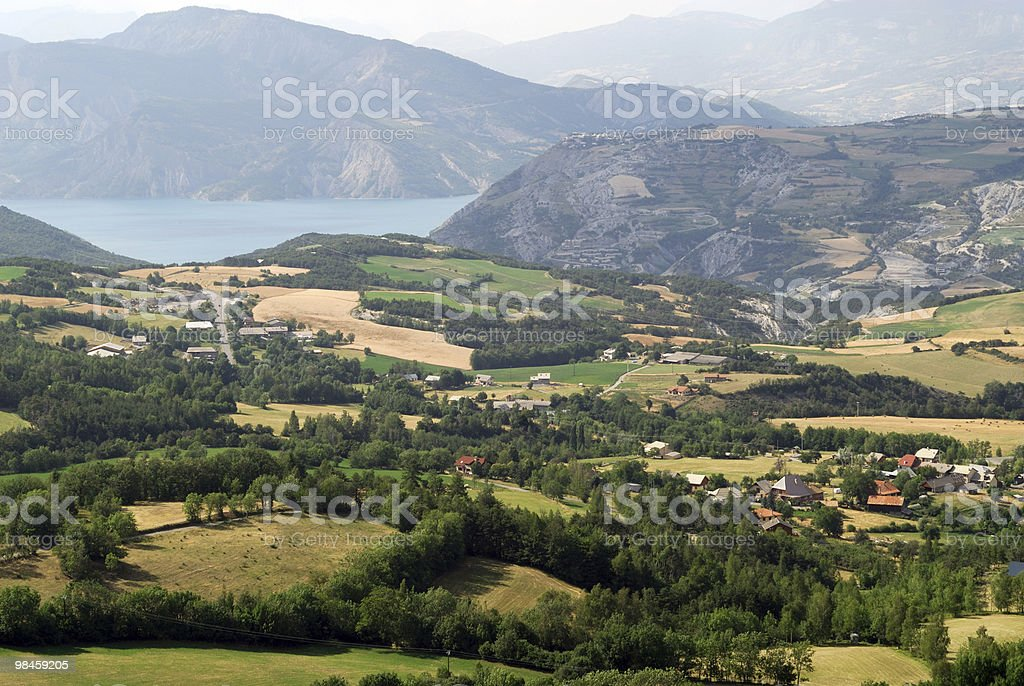 Col Saint-Jean (French Alps) - Panoramic view at summer royalty-free stock photo