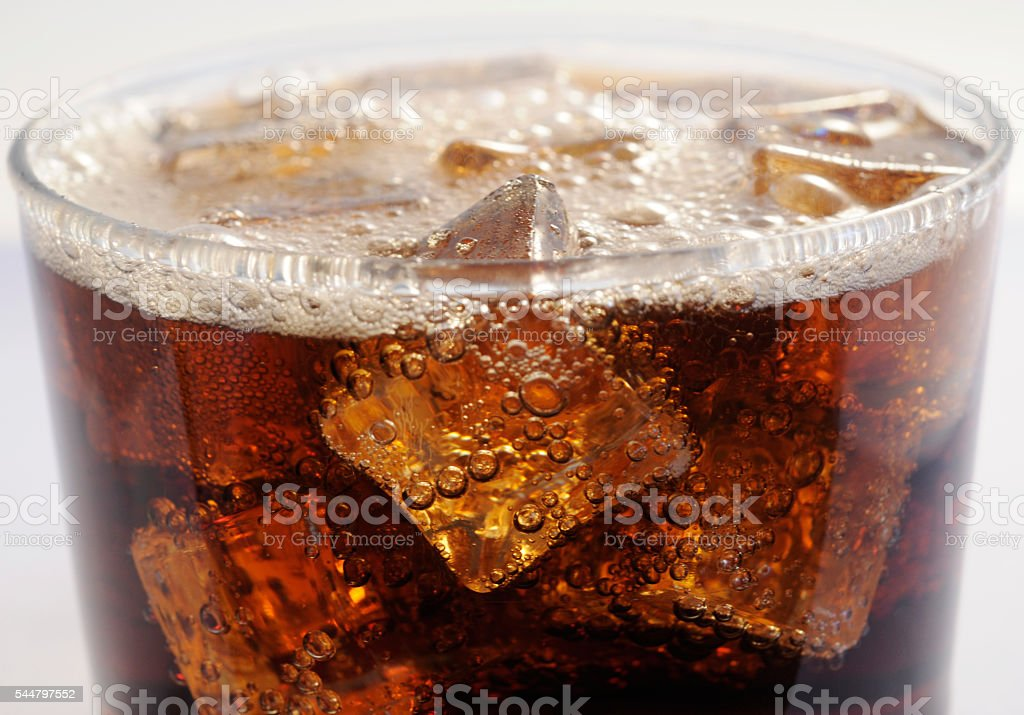 Cola and Ice stock photo