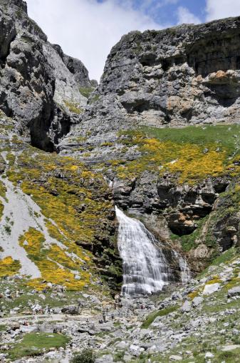 Cola de Caballo fall, Ordesa National Park, Pyrenees (Spain)