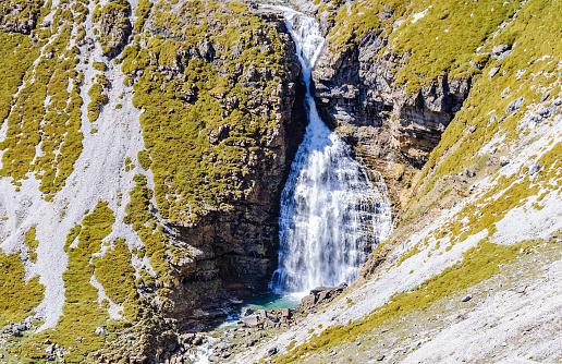 Cola de Caballo Waterfall in Ordesa, The Pyrenees, Spain
