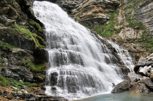 Cola de Caballo waterfall, Ordesa National Park, Pyrenees (Spain)